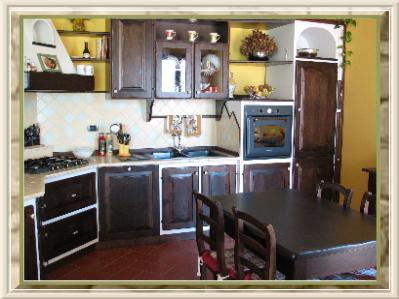 Cucine finta muratura roma ante e telai legno massello - Cucine su misura roma ...